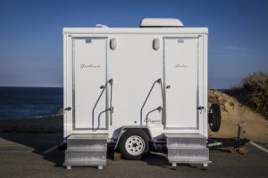 Elegant portable VIP restrooms