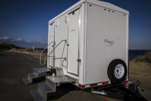 Outdoor portable VIP restrooms